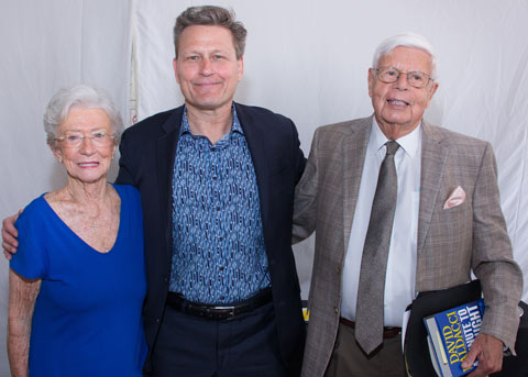 Sara Linn, David Baldacci, and Nick Linn | Friends of the Library of Collier County Nick Linn Series